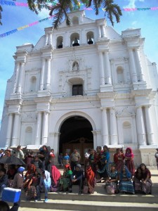 Curch of San Cristobal very bussy because of the name day with anual fair
