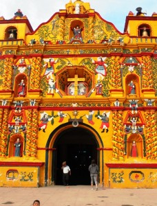 Colorfull church in San Andres Xecul, of course in Guatemala
