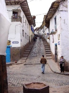 Typical street in Cusco