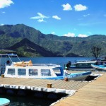 Harbor in San Pedro. Visit one of the many villages at Lake Atitlan during the Travelling Classroom Guatemala!