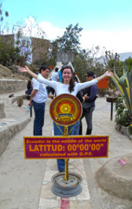 Mitad del Mundo right on the equator!