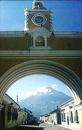 The famous arc of Antigua, Guatemala
