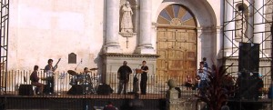 Concert in front of the Cathedral in Antigua Guatemala