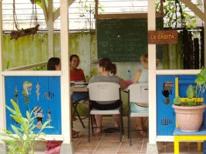 Learn Spanish in Panama here a group class in Bocas