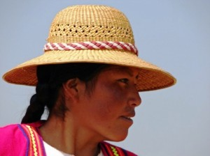 Indian woman at Lago de Titicaca