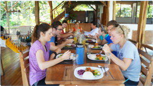 Good meals in the jungle lodge!