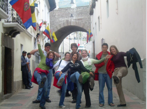 Spanish classes in Ecuador, city walk