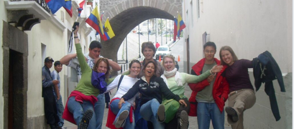 Sanish classes in Ecuador, city walk