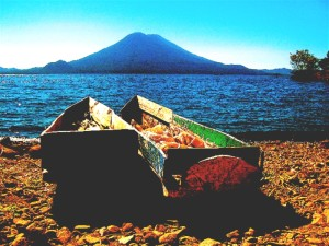 Boats on Lago de Atitlan, visit a few villages around the lake