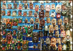 Sabbatical year? Learn Spanish and travel in Guatemala. Masks on a market